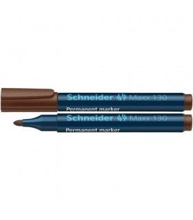 Permanent marker Maxx 130 varf rotund 1-3mm - maro  SCHNEIDER