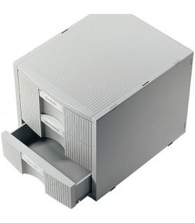 Suport modular pentru birou 3 sertare Plano Plus - gri deschis HELIT