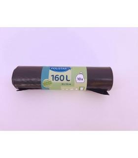 Saci menajeri Eco 100% reciclabili 160 L negri 10 bucati/rola FOLISTAR