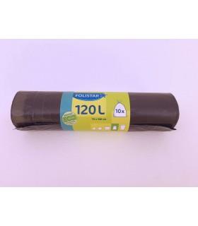 Saci menajeri Eco 100% reciclabili cu banda 120 L 10 bucati/rola FOLISTAR