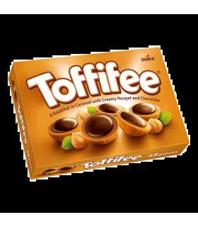 Praline cu alune, nuga si caramel acoperite cu ciocolata 400 g Toffifee STORCK