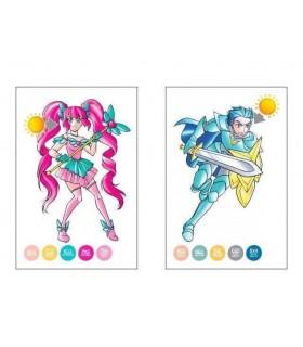 Carte de colorat Color Cards - Manga CHAMELEON
