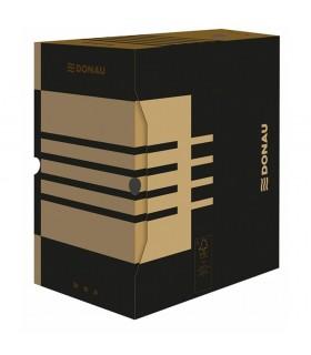 Cutie arhivare 200 mm, carton 390 gsm, negru/kraft DONAU