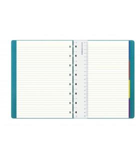 Caiet multifunctional Notebook Saffiano A5 cu spirala si rezerve Aquamarine FILOFAX
