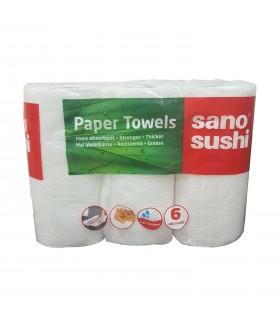 Prosoape hartie Paper Towel Sushi magic 6 bucati SANO