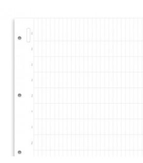 Rezerva hartie FILOFAX anuala 5 buc/set A4, nedatata compatibila Agendele Organiser A4 si cu Clipbook-urile A4 Filofax