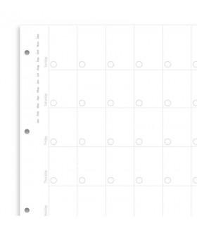 Rezerva hartie FILOFAX lunara, 12 buc/set A4 nedatata compatibila cu Agendele Organiser A4 si cu Clipbook-urile A4 Filofax