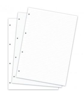 Rezerva hartie FILOFAX asortata 60buc/set A4, compatibila cu Agendele Organiser A4  si cu Clipbook-urile A4 Filofax