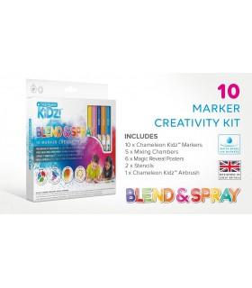 Kit creativ 10 culori Blend & Spray CHAMELEON KIDZ
