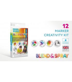 Kit creativ 12 culori Blend & Spray CHAMELEON KIDZ