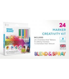Kit creativ 24 culori Blend & Spray CHAMELEON KIDZ