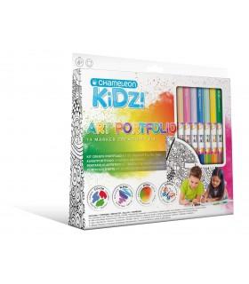 Kit creativ Portfolio 14 culori CHAMELEON KIDZ