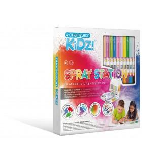 Kit creativ 20 culori Spray Station CHAMELEON KIDZ