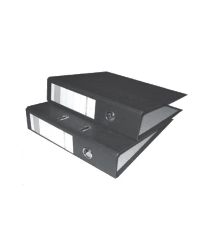 Biblioraft marmorat A4 75 mm negru NOKI