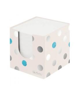 Bloc notite alb, 700 file, 9 x 9 x 9 cm, cu suport de carton, Frozen Glam HERLITZ