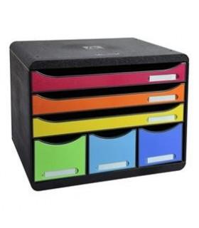 Cabinet 6 sertare maxi multicolor EXACOMPTA