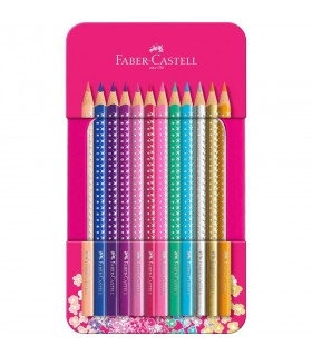 Set cadou 12 creioane colorate Sparkle FABER-CASTELL