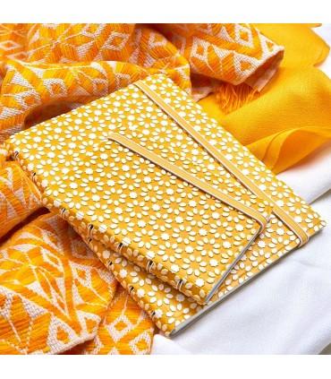 Agenda Notebook Impressions cu spirala si rezerve A5 Yellow & White FILOFAX