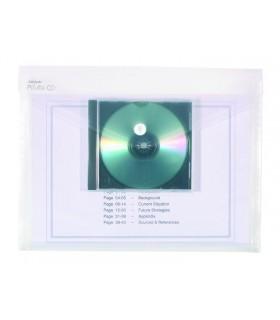 Mapa Plastic Cu Buton A4 Compartiment Cd Transparenta 200 Microni Snopake