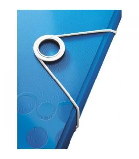 Mapa Plastic Cu Elastic Wow Leitz albastru metalizat
