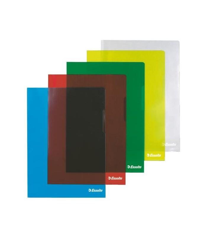 Mapa Protectie A4 Cristal, diverse culori, Tip L 150 Microni ESSELTE