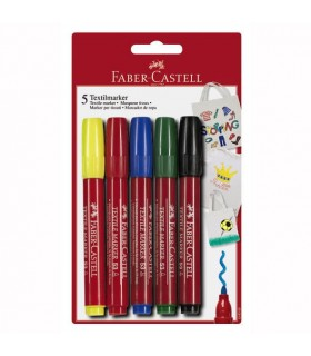 Marker pentru textile 5 Culori FABER - CASTELL