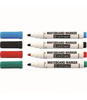 Marker whiteboard diverse culori, varf 2.5 mm CENTROPEN