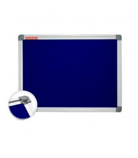 Panou Textil 90 X 120 Cm Albastru Rama Aluminiu Memoboards Dimensiune: 90 x 120 cm