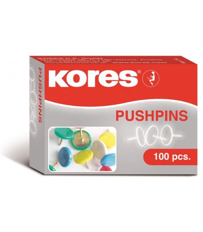 Pioneze metalice colorate 100/cutie KORES