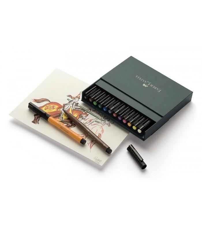 Marker 12 bucati Pitt Artist Pen Cutie Studio FABER - CASTELL