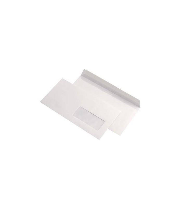 Plic Dl autoadeziv cu fereastra dreapta,  80 g/mp, 110 x 220 mm, alb GPV