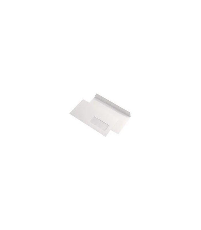 Plic Dl autoadeziv cu fereastra,  80 g/mp, 110 x 220 mm, alb GPV