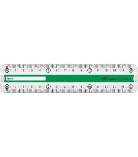Rigla 15 cm Grip FABER-CASTELL