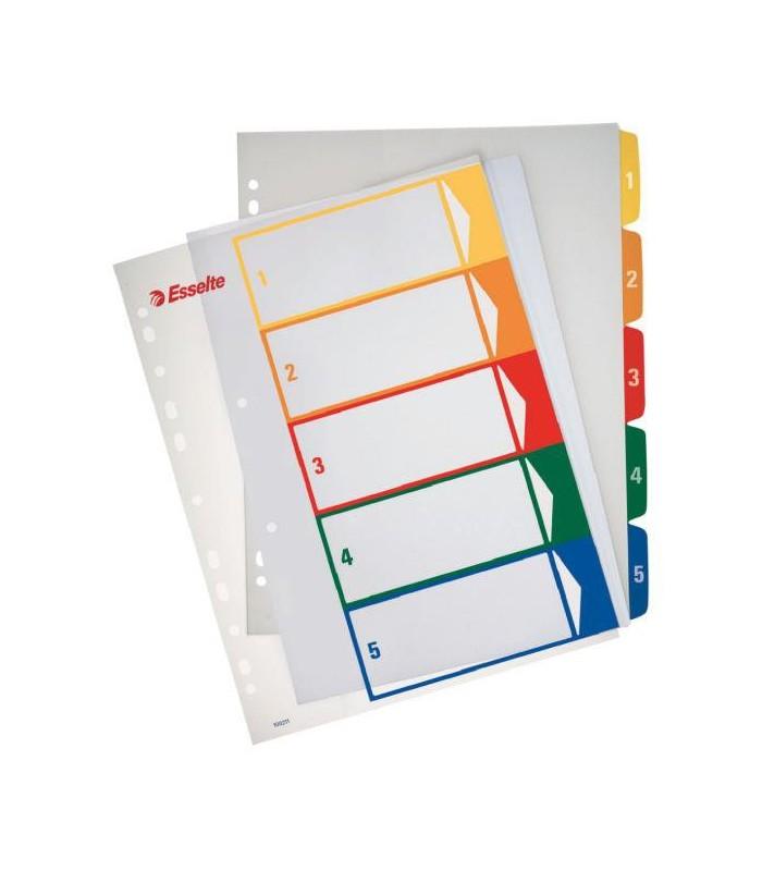 Index plastic numeric, A4 XL, imprimabil, ESSELTE