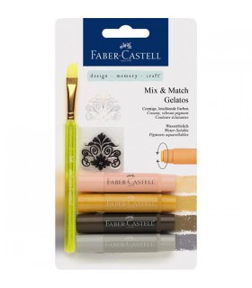 Set 4 pasteluri solubile Gelatos nuante neutre FABER-CASTELL