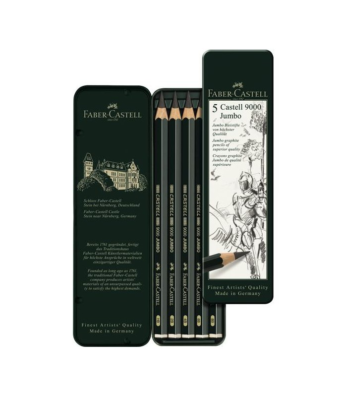 Creion Grafit Castell 9000 set 5 buc Jumbo Faber-Castell