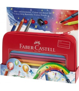 Set cadou desen si pictura colour grip 16 culori/set Colour Grip FABER-CASTELL