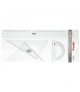 Set geometrie 4 piese Centro ROTRING