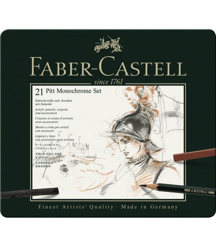 Set desen Pitt Monochrome 21 piese FABER-CASTELL