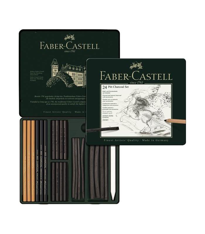 Set desen Pitt Monochrome carbune 24 buc/set FABER - CASTELL