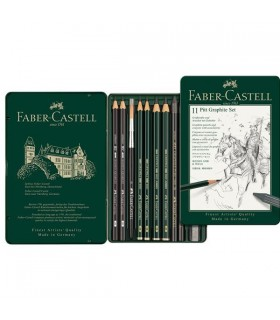Set creioane grafit Pitt Monochrome 11 buc/set FABER-CASTELL