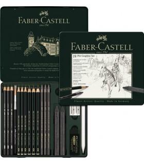 Set desen Pitt Monochrome Grafit 19 piese FABER-CASTELL