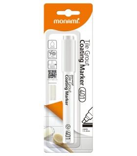 Marker permanent pentru rosturi alb mat 401 MONAMI