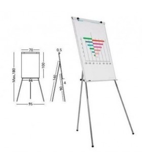 Flipchart magnetic, 100 x 70 cm, Budget SMIT
