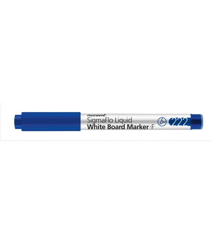 Marker whiteboard albastru 222 SigmaFlo, varf 1.3 mm MONAMI