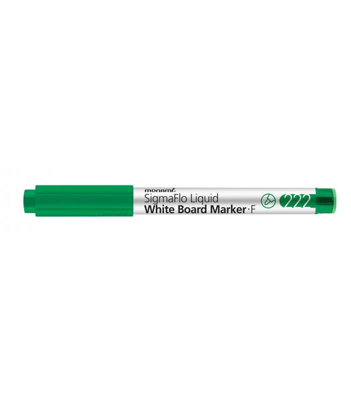 Marker whiteboard verde 222 SigmaFlo, varf 1.3 mm MONAMI