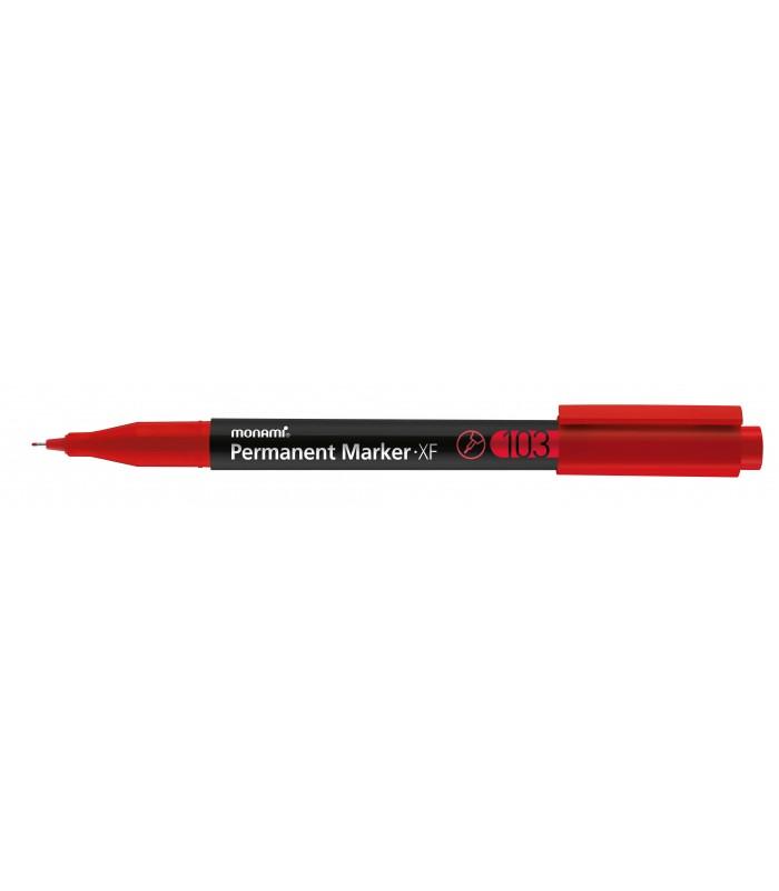 Marker permanent rosu 103, varf rotund 0.5 mm MONAMI