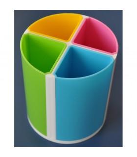 Suport multicolor instrumente de scris 4 compartimente KEJEA