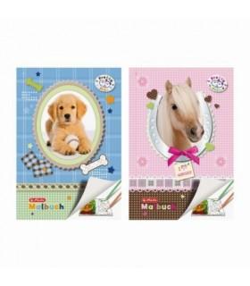Carte de colorat A4 28 file color motiv Pretty Pets HERLITZ