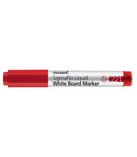 Marker whiteboard rosu 221 SigmaFlo, varf 1.5 - 5 mm MONAMI